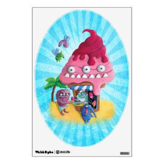 Ice Cream on the Beach Wall Sticker