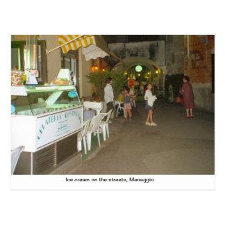 Ice cream on the streets, Menaggio Postcard