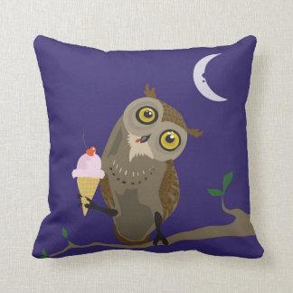 Ice Cream Owl~pillow Pillow