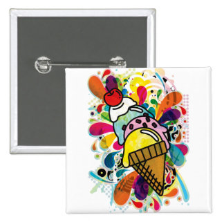 Ice_Cream_Paint 2 Inch Square Button