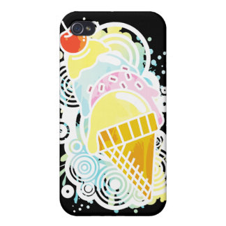 Ice_Cream_Paint Cover For iPhone 4