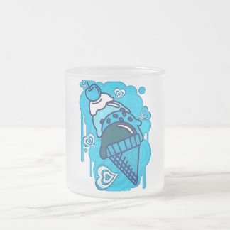 Ice_Cream_Paint Frosted Glass Coffee Mug