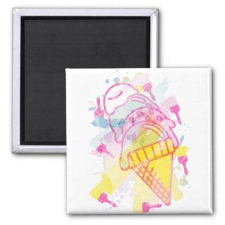 Ice_Cream_Paint Imán Cuadrado
