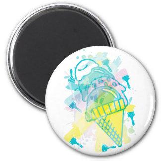 Ice_Cream_Paint Imán Redondo 5 Cm