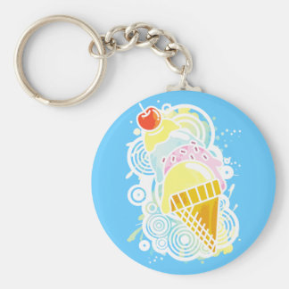 Ice_Cream_Paint Keychain