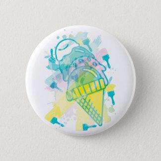 Ice_Cream_Paint Pinback Button