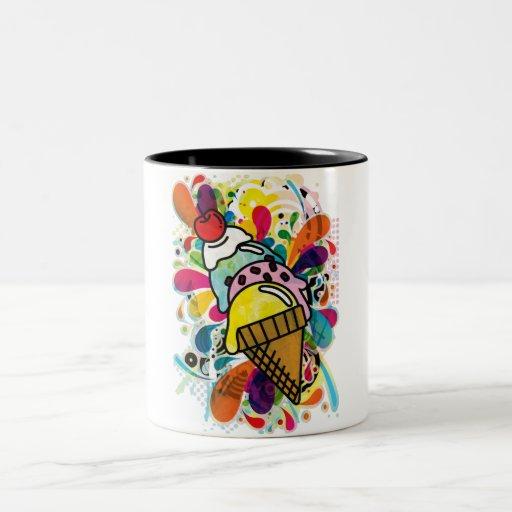 Ice_Cream_Paint Two-Tone Coffee Mug