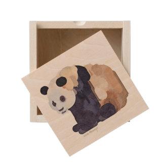 Ice Cream Panda #2 Wooden Keepsake Box