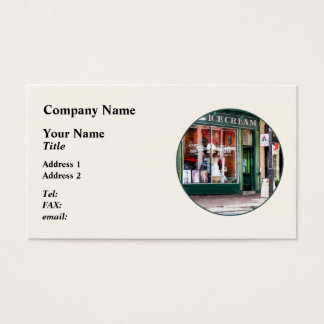 Ice Cream Parlor Alexandria VA Business Card