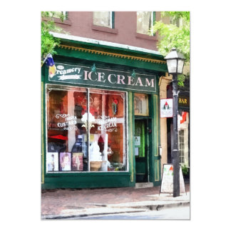 Ice Cream Parlor Alexandria VA Personalized Announcement