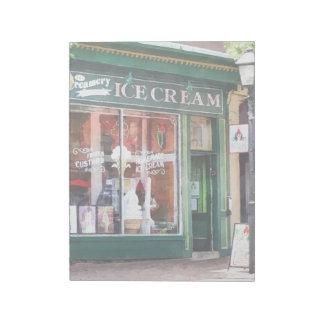 Ice Cream Parlor Alexandria VA Notepad