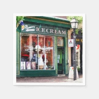 Ice Cream Parlor Alexandria VA Paper Napkin