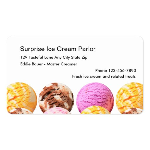 Ice Cream Parlor Business Cards Zazzle