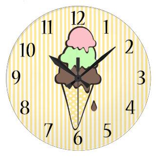 Ice Cream Parlor Large Clock