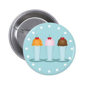 Ice Cream Parlor Pinback Button