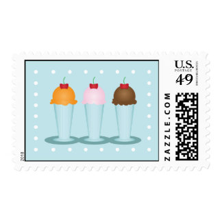 Ice Cream Parlor Postage Stamp