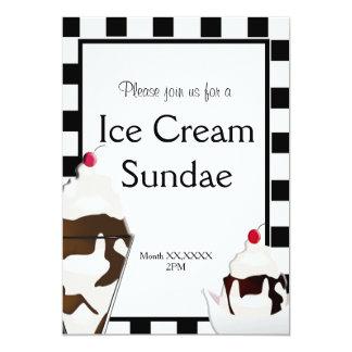 Ice Cream Parlor Social Party Custom Invitation