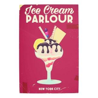 Ice Cream Parlour Vintage old Sign