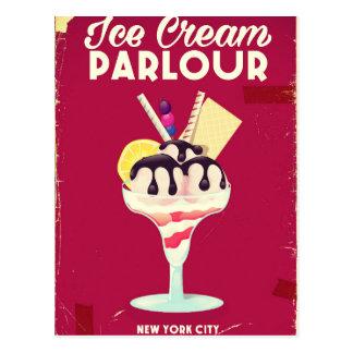 Ice Cream Parlour Vintage old Sign Postcard