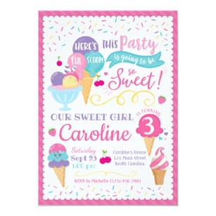 Ice Cream Party Invitations Zazzle