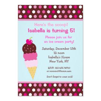 Ice Cream Party Birthday Invitations icecream