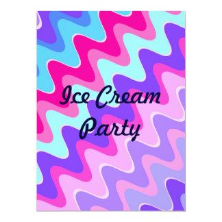 Ice Cream Party - Customized Pink Invitation