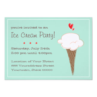 Ice Cream Party Invitations Announcements Zazzle
