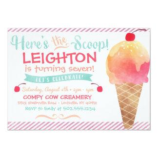Ice Cream Party Invitations & Announcements | Zazzle