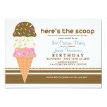 """Ice Cream Party Invitations 5"""" X 7"""" Invitation Card"""