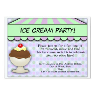 Ice Cream Party, Pastel Sweet Shoppe Card