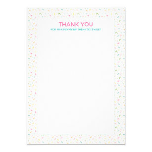 cupcake note thank you invitations zazzle