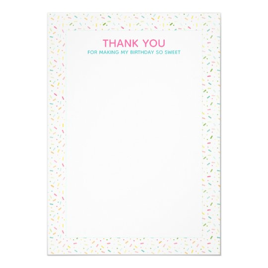 ice cream party thank you note invitation zazzle com