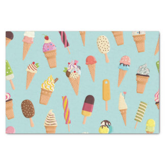 Ice cream pastels tissue paper