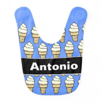 Ice Cream Pattern Baby Bib