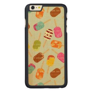 Ice Cream Pattern Carved Maple iPhone 6 Plus Case