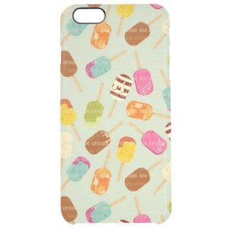 Ice Cream Pattern Clear iPhone 6 Plus Case