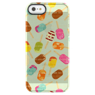 Ice Cream Pattern Clear iPhone SE/5/5s Case