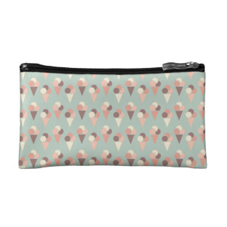 Ice-cream pattern cosmetic bag