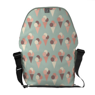 Ice-cream pattern courier bag