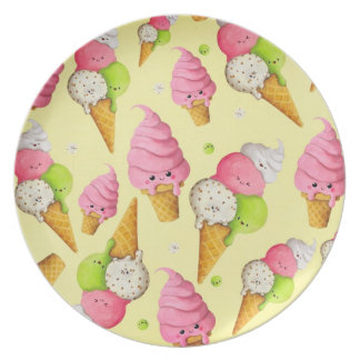 Ice Cream Pattern Dinner Plate