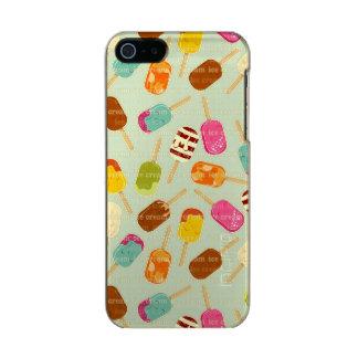 Ice Cream Pattern Metallic Phone Case For iPhone SE/5/5s