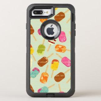 Ice Cream Pattern OtterBox Defender iPhone 8 Plus/7 Plus Case