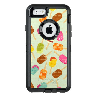 Ice Cream Pattern OtterBox Defender iPhone Case