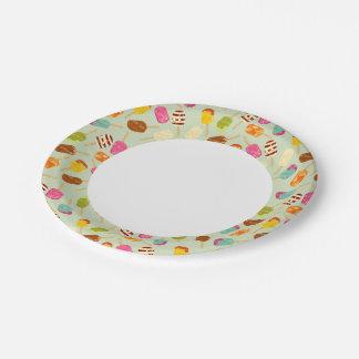 Ice Cream Pattern Paper Plate