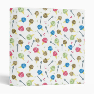 Ice Cream Pattern School Binder