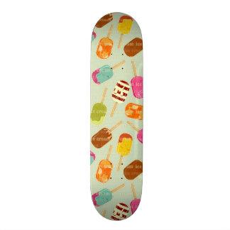 Ice Cream Pattern Skateboard Deck