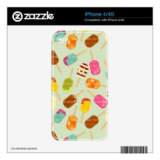 Ice Cream Pattern Skin For The iPhone 4