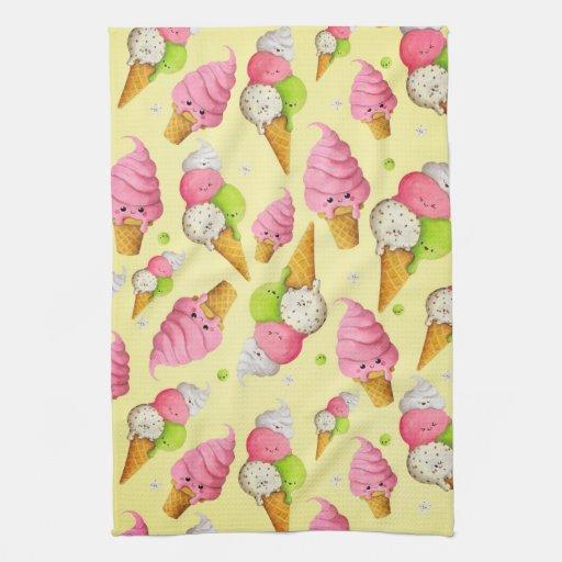 Ice Cream Pattern Towel