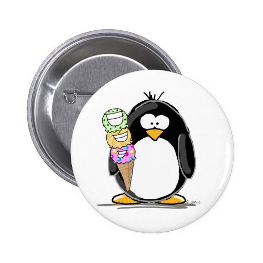 Ice Cream Penguin Buttons