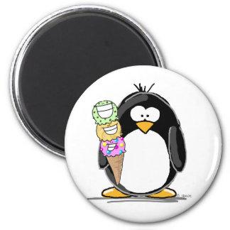 Ice Cream Penguin Fridge Magnets